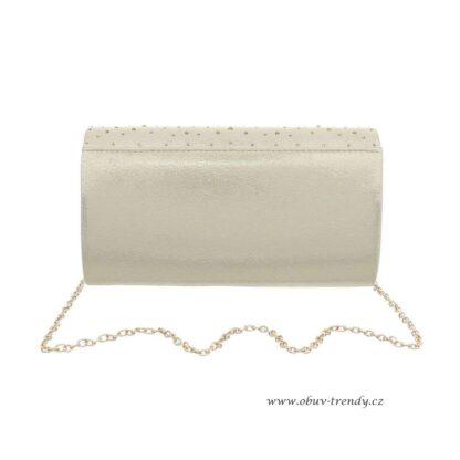 kabelka na řetízku zlatá