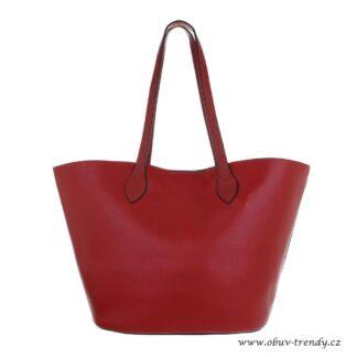 kabelka shoper červený