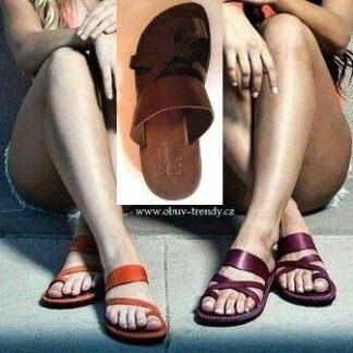kožené sandály Narmer velbloudí kůže
