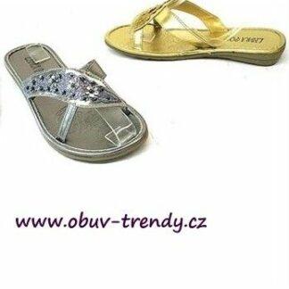 letní sandály stříbrné