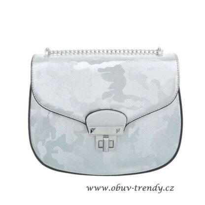malá kabelka na řetízku stříbrná