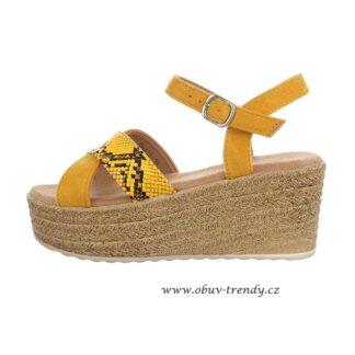 trendy sandály na klínku