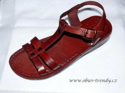 kožené sandály Hunei