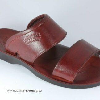 kožené pantofle z Egypta Achnaton