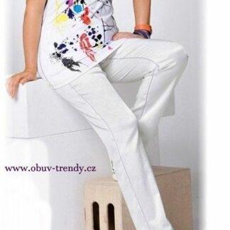 kalhoty bílé elastické vel 48