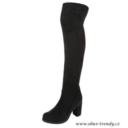 vysoké kozačky nad kolena černé