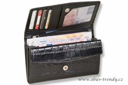 lakovaná kožená peněženka