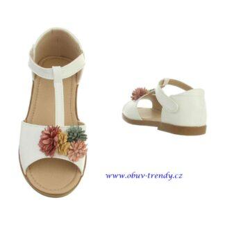 dětské sandály bílé