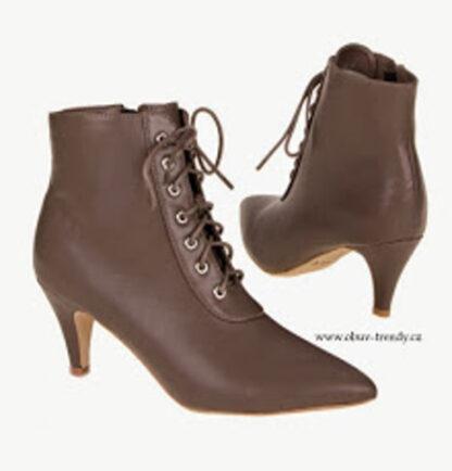 kotníková šněrovací obuv na podpatku
