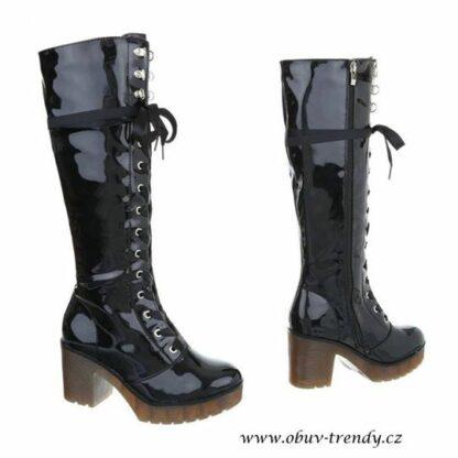 trendy šněrovací boty lakované