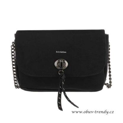 černá kabelka na řetízku