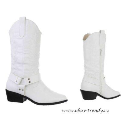 kovbojky bílé