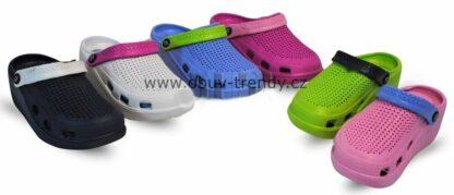 gumové boty na klínku