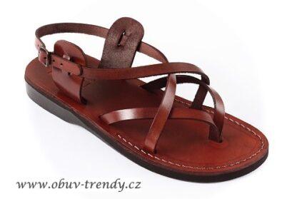 ručně šité kožené sandály Peribsen