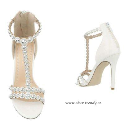 Sandály na jehle bílé