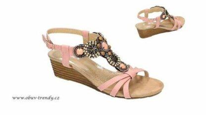 sandály na klínku Jumex