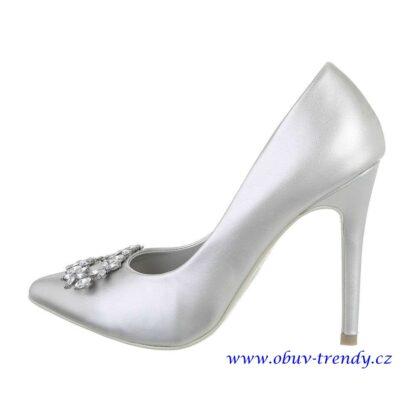 stříbrné společenské boty