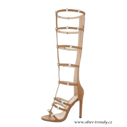 Vysoké sandály na jehle gladiatorky