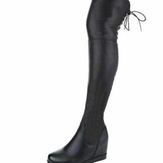 luxusní kozačky nad kolena černé