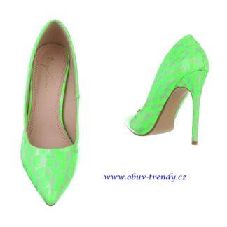 zelené lodičky Sergio Todzi
