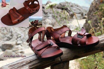 Apopi pánské kožené sandály z Egypta