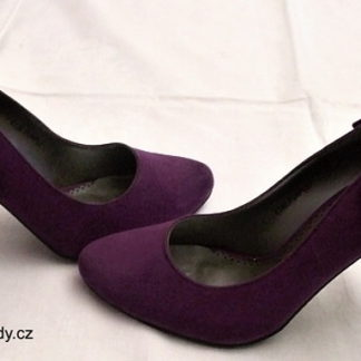 fialové lodičky s mašličkou