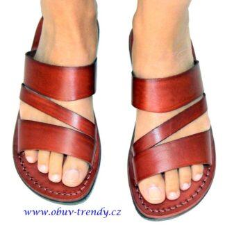 ručně šíté kožené pantofleTakelot